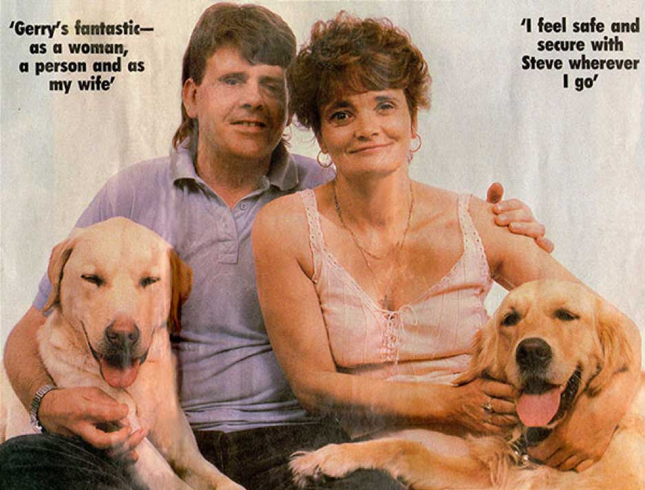 Steve and Geraldine featured in 'Woman's Own' magazine August 23rd, 1988